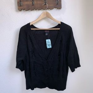 Torrid | Distressed Cropped Cardigan Sweater